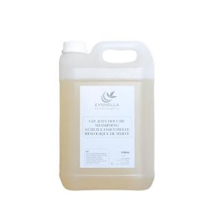 Gel bain douche shampoing à l'huile essentielle biologique de myrte